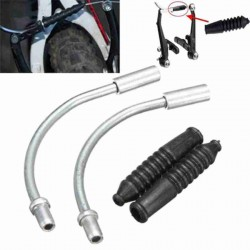 2X BICYCLE BRAKE CABLE PIPE AND RUBBER PROTECTOR
