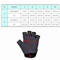REFLECTVE CYCLING HALF FINGER NIGHT RIDING GLOVE 010