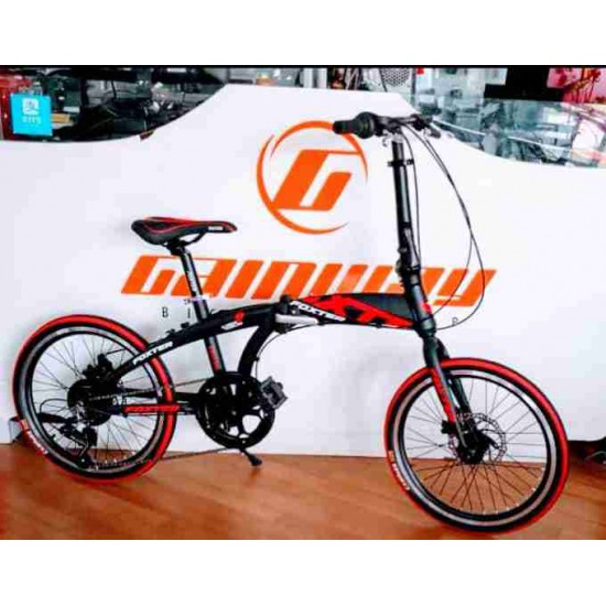 "FOXTER 20"" ALLOY SHIMANO 7 SPEED GEAR FOLDING DISC BIKE"