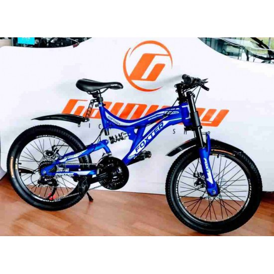 FOXTER 20 INCH FULL SUSPENSION DH FORK SHIMANO DISC GEAR BIKE