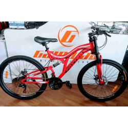 "FOXTER 26"" FULL SUSPENSION DH FORK DISC GEAR BIKE"