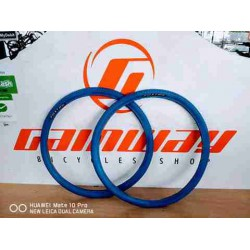 "2X FOXTER 20"" X 1 3/8 KNOBBY COLOR BICYCLE TYRE"