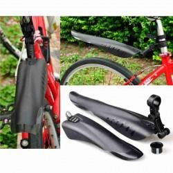 2x BICYCLE MUDGUARDS (BLACK)