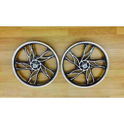 2x BICYCLE 20 INCH ALLOY SPORT RIM SET
