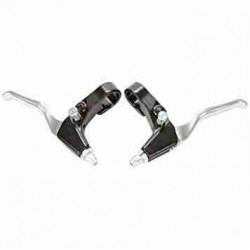 2X BICYCLE ALLOY BRAKE LEVER (SILVER)
